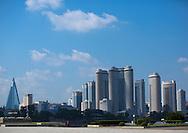 New buildings skyline, Pyongyang, North Korea.