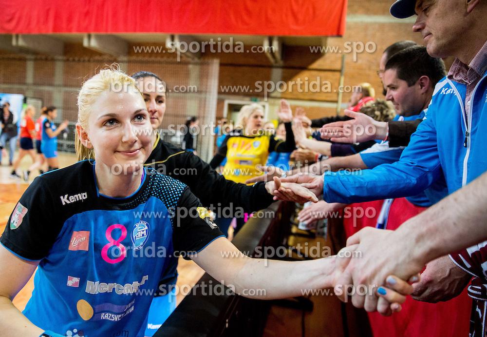 Tamara Mavsar of Krim after the 2nd Leg handball match between RK Krim Mercator and HC Lada Togliatti (ROU) in Semifinal of Women Cup Winners' Cup 2015/16, on April 9, 2016 in Arena Kodeljevo, Ljubljana, Slovenia. Photo by Vid Ponikvar / Sportida