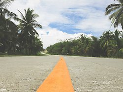 Deserted road in Palawan Island, Philippines, Southeast Asia
