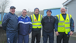Operation Transformation walk hosted by Westport GAA club on saturday last.<br />Chris McGowan, Cllr Brendan Mulroy,Charlie Lambert, Paddy Murray and Phil Keegan<br />Pic Conor McKeown