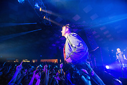 Damon Albarn, lead singer of Blur, on stage at Barrowland, Glasgow.
