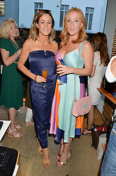 Left to right, NATALIE PINKHAM and SARAH-JANE MEE at a party to celebrate the paperback lauch of The Stylist by Rosie Nixon hosted by Donna Ida at her store at 106 Draycott Avenue, London on 17th August 2016.