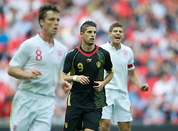 LONDON, ENGLAND - Saturday, June 2, 2012: Belgium's Kevin Mirallas in action against England during the International Friendly match at Wembley. (Pic by David Rawcliffe/Propaganda)