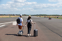 Chinese tourists at Tempelhof, Berlin, Germany.