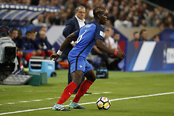 France's Paul Pogba during the World Cup 2018 Group A qualifications soccer match, France vs Netherlands at Stade de France in Saint-Denis, suburb of Paris, France on August 31st, 2017 France won 4-0. Photo by Henri Szwarc/ABACAPRESS.COM