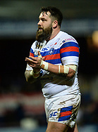 Craig Huby of Wakefield Trinity during the Betfred Super League match at Belle Vue, Wakefield<br /> Picture by Richard Land/Focus Images Ltd +44 7713 507003<br /> 09/02/2018