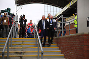 Leicester City Manager Claudio Ranieri arrives at the ground during the Barclays Premier League match between Crystal Palace and Leicester City at Selhurst Park, London, England on 19 March 2016. Photo by Phil Duncan.