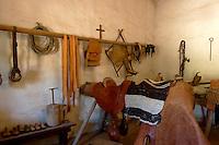 Saddle Making and Cattle Branding Room at Mission La Purisima, Lompoc, California