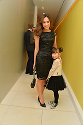 MYLEENE KLASS and her daughter AVA QUINN at a pre party for the English National Ballet's Christmas performance of The Nutcracker was held at the St.Martin's Lane Hotel, St.Martin's Lane, London on 12th December 2013.