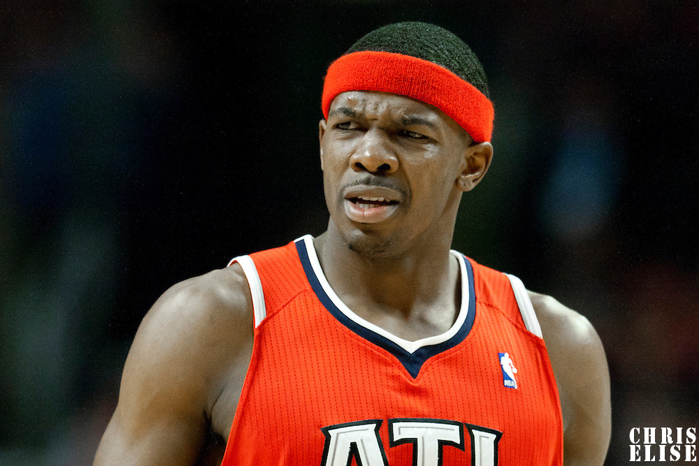04 May 2011: Atlanta Hawks shooting guard Joe Johnson (2) looks dejected during the Chicago Bulls 86-73 victory over the Atlanta Hawks, during game 2 of the Eastern Conference semi finals at the United Center, Chicago, Illinois, USA.