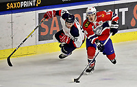Ishockey , <br /> Norge - Slovakia<br /> GRAZ,AUSTRIA,11.FEB.17 - ICE HOCKEY  - Oesterreich Cup, international match, Norway vs Slovakia. Image shows Michal Hlinka (SVK) and Thomas Valkvae (NOR). Norway onlyNorway only