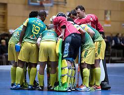 BERLIN - Indoor Hockey World Cup<br /> South Africa - Belgium<br /> foto: Line Up<br /> WORLDSPORTPICS COPYRIGHT FRANK UIJLENBROEK