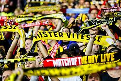 Vitesse Arnhem fans are in high spirits,  singing and waving their scarfs - Mandatory by-line: Jason Brown/JMP - Mobile 07966386802 - 31/07/2015 - SPORT - FOOTBALL - Southampton, St Mary's Stadium - Southampton v Vitesse Arnhem - Europa League