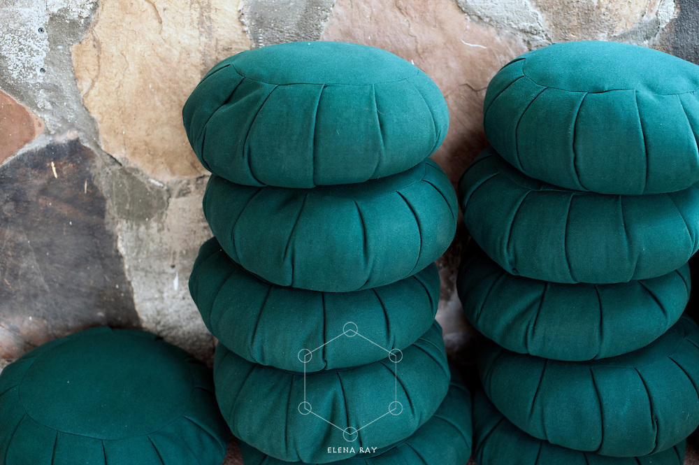 Still Life Photography. Meditation Cushions.