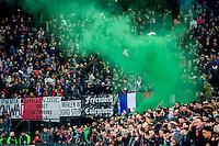 ROTTERDAM - 03-03-2016, Feyenoord - AZ, stadion de Kuip, 3-1, sfeer, rook, supporters.