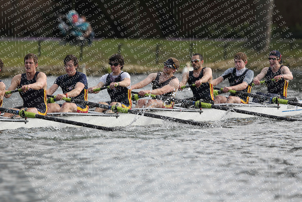 2012.02.25 Reading University Head 2012. The River Thames. Division 1. Southampton University Boat Club IM1 8+.