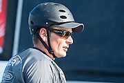 Emirates Team New Zealand skipper Dean Barker, day two of the Cardiff Extreme Sailing Series Regatta. 23/8/2014