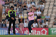 Nathan Sowter of Middlesex bowling during the Vitality T20 Blast South Group match between Hampshire County Cricket Club and Middlesex County Cricket Club at the Ageas Bowl, Southampton, United Kingdom on 20 July 2018. Picture by Dave Vokes.