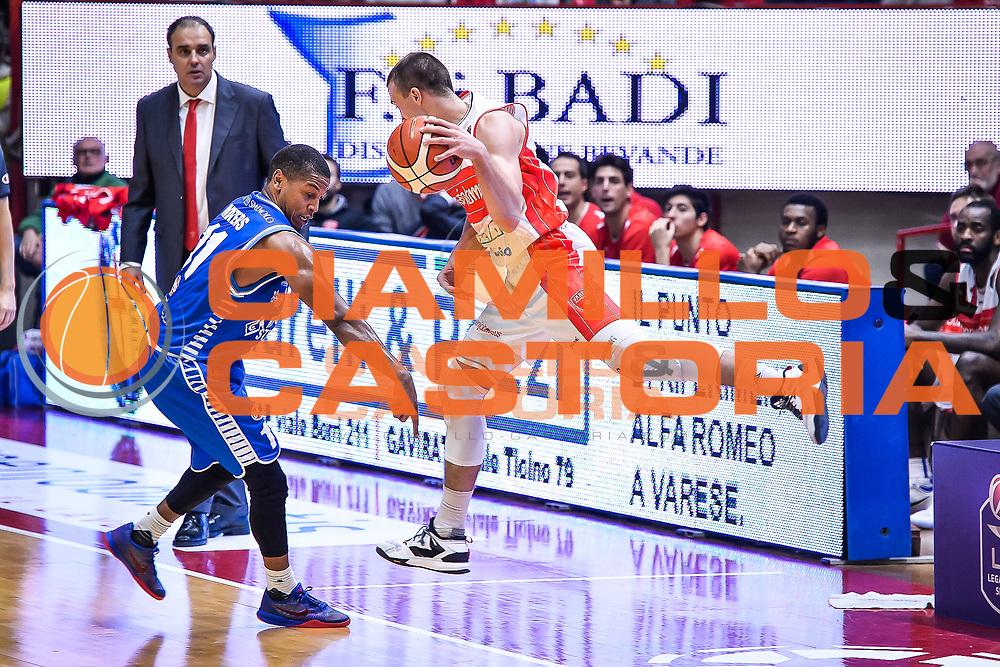 Aleksa Avramovic <br /> Openjobmetis Varese - Red October Cantu<br /> Basket serie A 2016/2017<br /> Varese 03/12/2016<br /> Foto Ciamillo-Castoria