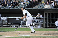 CHICAGO - SEPTEMBER 25:  Paul Konerko #14 of the Chicago White Sox bats against the Cleveland Indians on September 25, 2012 at U.S. Cellular Field in Chicago, Illinois.  The Indians defeated the White Sox 4-3.  (Photo by Ron Vesely)  Subject:  Paul Konerko
