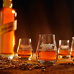 Stranahan's Colorado Whiskey and glasses