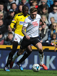 Jeff Hendrick Derby County, Derby County v Brentford, Sy Bet Championship, IPro Stadium, Saturday 11th April 2015. Score 1-1,  (Bent 92) (Pritchard 28)<br /> Att 30,050