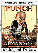 PUNCH Edwardian Front Cover Cartoons