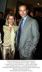 EMILIO & BROOKE DE OCAMPO at a party in London on 23rd September 2003.PMZ 35