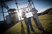 Monday 26th January, 2015, Aberdeen, Scotland.  The launch of the Elevator Awards &ndash; formerly the Grampian Awards for Business Excellence.<br /> <br /> Pictured: Elevator chief executive, Gary McEwen, and Russell Whyte, RBS Director of Corporate &amp; Commercial Banking<br /> <br /> (Photo: Ross Johnston/Newsline Media)