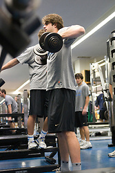 03 April 2008: North Carolina Tar Heels men's lacrosse defenseman Ryan Flanagan (35) during a practice day in Chapel Hill, NC.