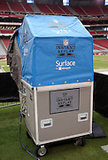 The instant replay cart stands ready for the Arizona Cardinals 2014 NFL preseason football game against the Houston Texans on Saturday, Aug. 9, 2014 in Glendale, Ariz. The Cardinals won the game in a 32-0 shutout. ©Paul Anthony Spinelli