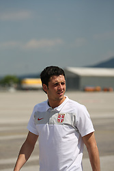 25.05.2010, Airport Salzburg, Salzburg, AUT, WM Vorbereitung, Serbien Ankunft im Bild Gojko Kasar, Nationalteam Serbien, EXPA Pictures © 2010, PhotoCredit EXPA R. Hackl / SPORTIDA PHOTO AGENCY