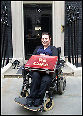 JUNE 24 2013 Angela Murray hands in a petition in Downing Street