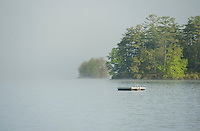 Fog on Lake Winnisquam.  ©2016 Karen Bobotas Photographer