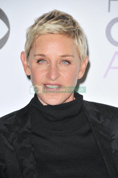 Ellen DeGeneres and Portia De Rossi at The 42nd Annual People's Choice Awards - Press Room held at the Microsoft Theater in Los Angeles, CA on January 6, 2016. (Photo by Sthanlee B. Mirador)   *** Please Use Credit from Credit Field ***