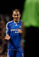 Photo: Ed Godden/Sportsbeat Images.<br />Chelsea v Wigan Athletic. The Barclays Premiership. 13/01/2007. Chelsea's Arjen Robben disagrees with the linesman's decision.