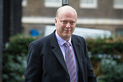 © Licensed to London News Pictures. 10/01/2017. London, UK.  Transport Secretary Chris Grayling leaves Downing Street after the weekly Cabinet meeting. Photo credit: Rob Pinney/LNP
