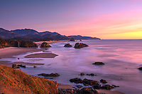 One of the most beautiful coastlines in the world - Oregon's Clatsop County from Ecola State Park to Cannon Beach, at sunset.