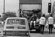 Peoples March for Jobs, Yorkshire to London. Beeston to Loughborough 15/05/1981