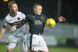 Dumbarton's Jamie Lindsay and Falkirk's John Baird. <br /> Falkirk 1 v 0 Dumbarton, Scottish Championship game played 26/12/2015 at The Falkirk Stadium.