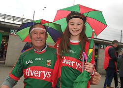 Vincent McAndrew and Lily Gannon from Lahardane<br /> on their way to McHale Park.<br />
