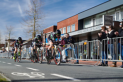Parkhotel Valkenburg approach the finish line at Healthy Ageing Tour 2018 - Stage 3b, a 16 km team time trial starting and finishing in Stadskanaal on April 6, 2018. Photo by Sean Robinson/Velofocus.com