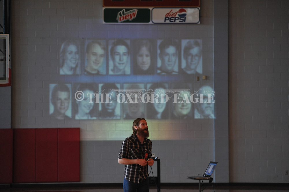Alex Jackson speaks at Lafayette High in Oxford, Miss. on Friday, September 5, 2014.