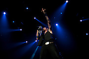 Three Days Grace performing at the Van Andel Arena in Grand Rapids, MI on the Uproar Tour on Sept. 20, 2011