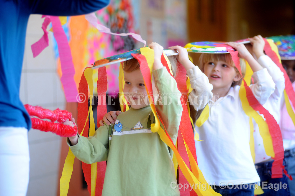 Bramlett Elementary students stage a Chinese New Year parade on Tuesday, February 16, 2010.