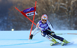 Nicole Gius of Italy skiing in first run of Maribor women giant slalom race of Audi FIS Ski World Cup 2008-09, in Maribor, Slovenia, on January 10, 2009. (Photo by Vid Ponikvar / Sportida)