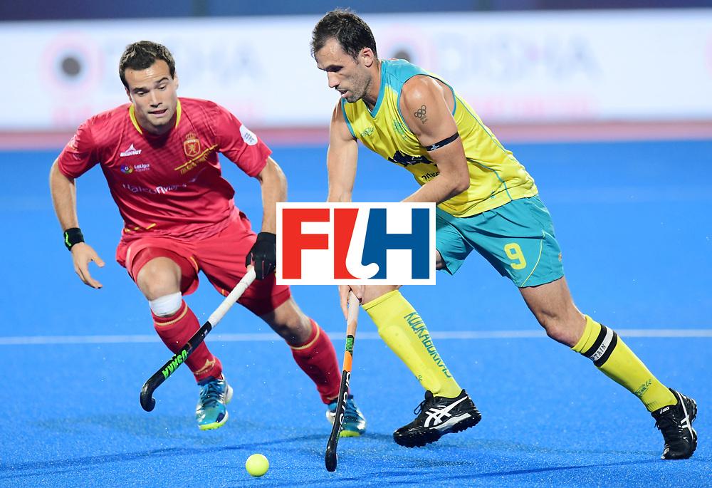 Odisha Men's Hockey World League Final Bhubaneswar 2017<br /> Match id:15<br /> Spain v Australia<br /> Foto: Mark Knowles (Aus) <br /> COPYRIGHT WORLDSPORTPICS FRANK UIJLENBROEK