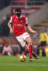 January 13, 2018 - Braga, Braga, Portugal - Braga's Serbian midfielder Nikola Vukcevic in action during the Premier League 2017/18 match between SC Braga and SL Benfica, at Municipal de Braga Stadium in Braga on January 13, 2018. (Credit Image: © Dpi/NurPhoto via ZUMA Press)
