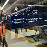 December 12, 2016 - New York, NY :  A view into the 96th Street Second Avenue Subway station dispatcher room. After years of delays, the new subway line is preparing to welcome its first straphangers. CREDIT: Karsten Moran for The New York Times