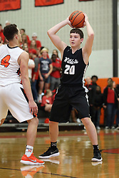 26 January 2018: Boys Basketball game between the Normal West Wildcats and the Normal Community Ironmen at NCHS in Normal